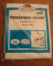 Vintage Fruit of the loom Full Matress Cover Dust and Dirt protector Zippered