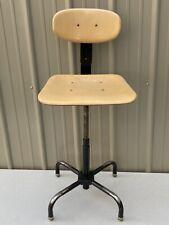 Vintage Adjustable Industrial Drafting Chair Stool Garrett Tubular Products