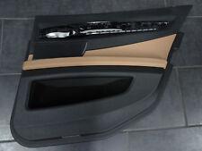 BMW Serie 7 F01 Paneles de puerta trasero Lado copiloto CUERO DAKOTA Marrón
