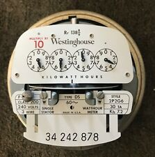 Vintage Westinghouse Electric Meter-240 volts 200 Amp 3-Wire Style-2P2G6-