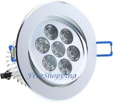 FARO 7W LUCE CALDA 7 LED FARETTO A INCASSO DA CONTROSOFFITTO INCLINABILE