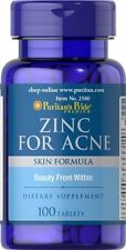 Puritan's Pride Zinc for Acne Skin Formula 100 tablets