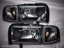 94-01 DODGE RAM 1500 / 94-02 2500/3500 BLACK HEADLIGHTS 95 96 97 98 99 00