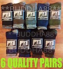 6-PAIRS HEAVY DUTY AUSTRALIAN MERINO EXTRA THICK WOOL WORK HIKING SOCKS