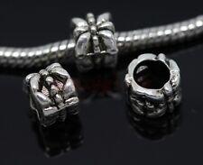 40/200pcs Tibetan Silver big hole flowers beads Fit Charm Bracelet(lead free)