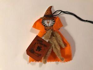 Paper doll Vintage Halloween ornaments, cat trick or treat item# 31