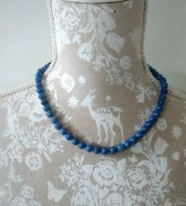 Vintage Blue Agate Beads necklace