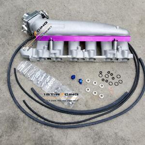Inlet Manifold + throttle body + PU fuel rail Fit NISSAN RB25 GTS r32 r33 r34