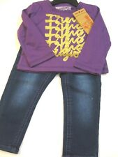 """NWT ~ TRUE RELIGION Infant Girls Two-Piece """"True Tee & Jeans Set"""" Size 18 Months"""