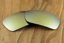 Metallic 24k Gold Iridium Polarized Mirrored Sunglass Lenses for Oakley Spike