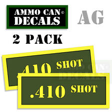 410 SHOT Ammo Can Box Decal Sticker Set bullet ARMY Gun safety Hunt 2 pack AG