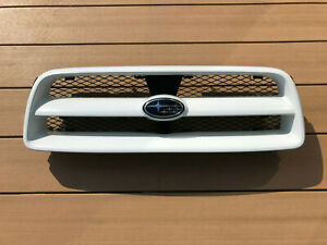 JDM 2004 Subaru Forester SG SG5 STi Front Grill Grille Option White OEM