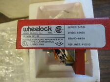 Brand New - Wheelock #34T-24 Fire Alarm Audible Device Red Metal - N O S