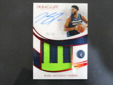 2019 NBA PANINI IMMACULATE PATCH AUTO KARL-ANTHONY TOWNS 01/15