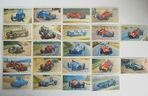 Collectible 1971 Trading - Mobil - The Story Of Grand Prix Motor Racing 22 Cards