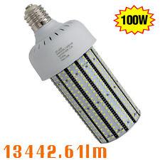 480Volt LED Corn Cob Bulb 100W Replace 400W Dusk to Dawn Security Yard Light E39