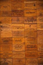 50 Assorted BRANDED WOOD WINE CRATE PANELS Different Sizes