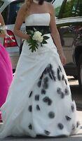 ** Hofdamen Königinnenkleid Gr. 34 / 36 weiß wunderschön Designerkleid **