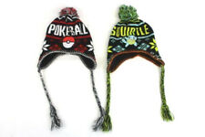 Lot of 2 Pokemon Beanie Tassel Pom Pom Hat Squirtle and Pokeball