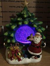 Dillards Trimmings Revolving Christmas Tree center light and glitter