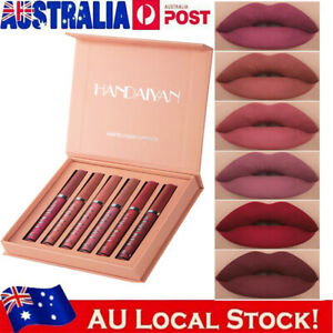 6PCS/Set Beauty Glazed Long Lasting Lip Gloss Matte Liquid Lipstick Makeup AU!~
