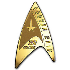 2016 Canada 1/2 oz Proof Gold $200 Star Trek Delta Shaped Coin - SKU #104096
