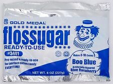 Floss Sugar - Blue Raspberry - 8 OZ Gold Medal Cotton Candy Concessions ounce