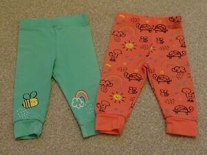 Pack of 2 Baby Girl's Leggings from F&F at Tesco's Age 0-3 Months
