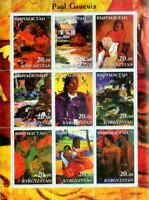 Gauguin Paintings On Stamps - 9 Stamp  Sheet 11A-005