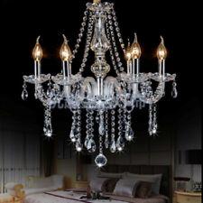 6 Brazos Lámpara Colgante de Techo Araña de Cristal Luz E14 Candelabro Cadena