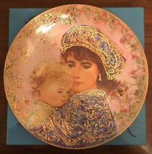 "EDNA HIBEL 1987 Mother's Day Collector Plate ""CATHERINE AND HEATHER"" Ltd. Ed."