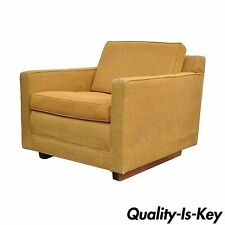 Vintage Mid Century Modern Club Arm Chair Cube Form Lounge Baughman Dunbar Style