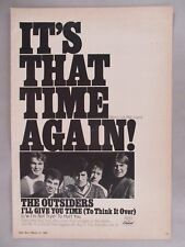 The Outsiders PRINT AD - 1967 ~~ I'll Give You Time