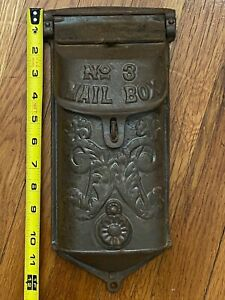 Griswold No 3 MAIL BOX Ornate 353 361 Lid Wall Mount Cast Iron