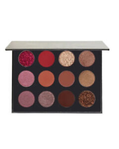 12 colour brown red eyeshadow palette