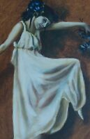Portrait painting, Original Oil Painting Ballet Dancer Beautiful Woman Ballerina