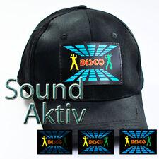 LED PARTY BASE CAP MÜTZE DJ DISCO Soundsensitve Partycap Basecap Equalizer #C04