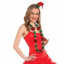 Jumbo Christmas Ornament Bead Adult Holiday Decoration Necklace