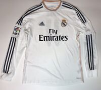 BALE REAL MADRID 2013 2014 HOME FOOTBALL SOCCER SHIRT JERSEY ADIDAS LONG SLEEVE