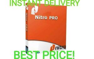 Nitro Pro PDF 13   Entreprise 2020  Lifetime Activated INSTANT DELIVER+CHEAPEST