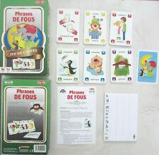 Jeu de cartes Phrases de fous / Tactic / À partir de 6 ans / De 2 à 6 joueurs