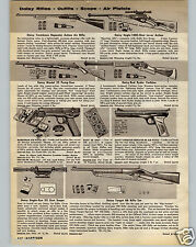 1960 PAPER AD Daisy Air Rifle BB Gun Trombone Repeater Action Eagle Red Ryder 25
