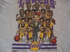 Vintage NBA Los Angeles Lakers Sam Perkins Vlade Divac Caricature T Shirt XL
