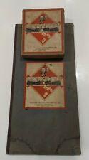 Vintage Monopoly Board Game by John Waddington Ltd Wooden Houses RARE Original