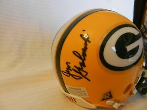 Jim Grabowski Green Bay Packers Signed Mini Helmet