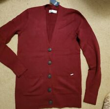 NWT Hollister Button Front Boyfriend Cardigan Sweater Burgundy Small