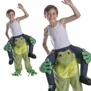 Childs Piggy Back Animal Fancy Dress Costume Kids Boys Girls Monkey Frog Outfit