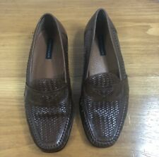 Bostonian Mens Brown Woven Leather Loafers Shoes  size 8 M