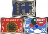 Schweiz 1087-1089 (kompl.Ausg.) gestempelt 1977 Jahresereignisse