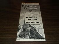 APRIL 1951 PRR PENNSYLVANIA RAILROAD FORM 80 WEST TO NEW YORK/NEW ENGLAND